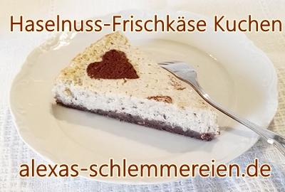 Haselnuss-Frischkäse Kuchen
