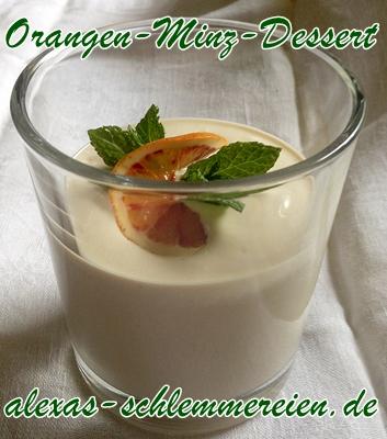 Orangen-Minz-Dessert