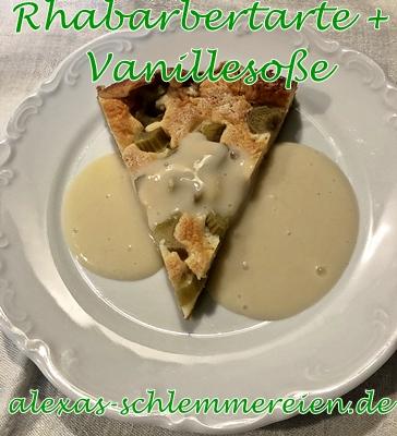 Rhabarbertarte + Vanillesoße