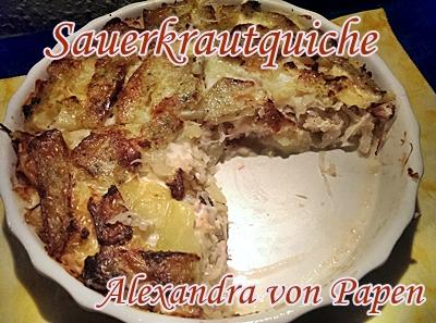 Sauerkrautquiche 2 Portionen