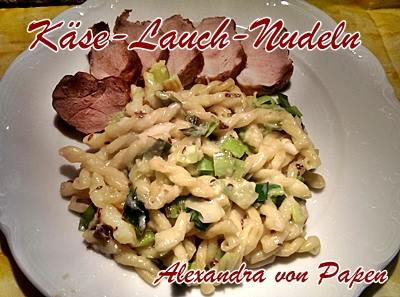 Käse-Lauch-Nudeln 2 Portionen
