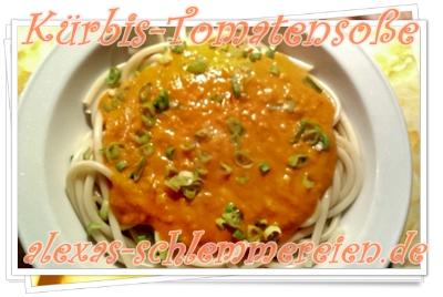 Kürbis-Tomatensoße aus dem Thermomix